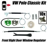 Window Regulator Repair Kit For VW POLO CLASSIC VW CADDY MK2 Front Right Side